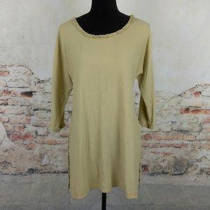 OH MY GAUZE! Sz 1 (S/M) Beige Tan Cotton Tunic